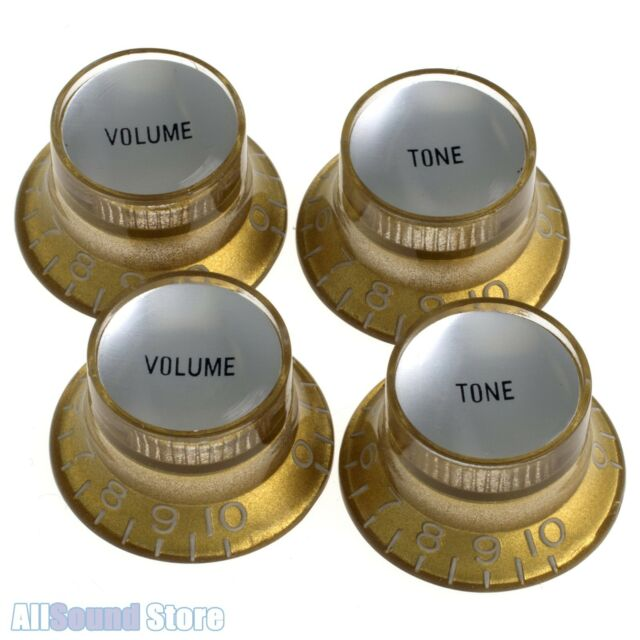 4 pack Gibson Top Hat Knobs Gold