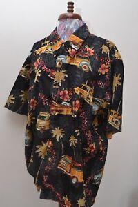 80s/90s Original Vintage Voiture Imprimé Palmier à Motifs Chemise Homme Hawaïen-afficher Le Titre D'origine Limpide à Vue