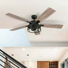 Honeywell Touch Down Ceiling Fan 48 Inch Matte Black Finish 50205