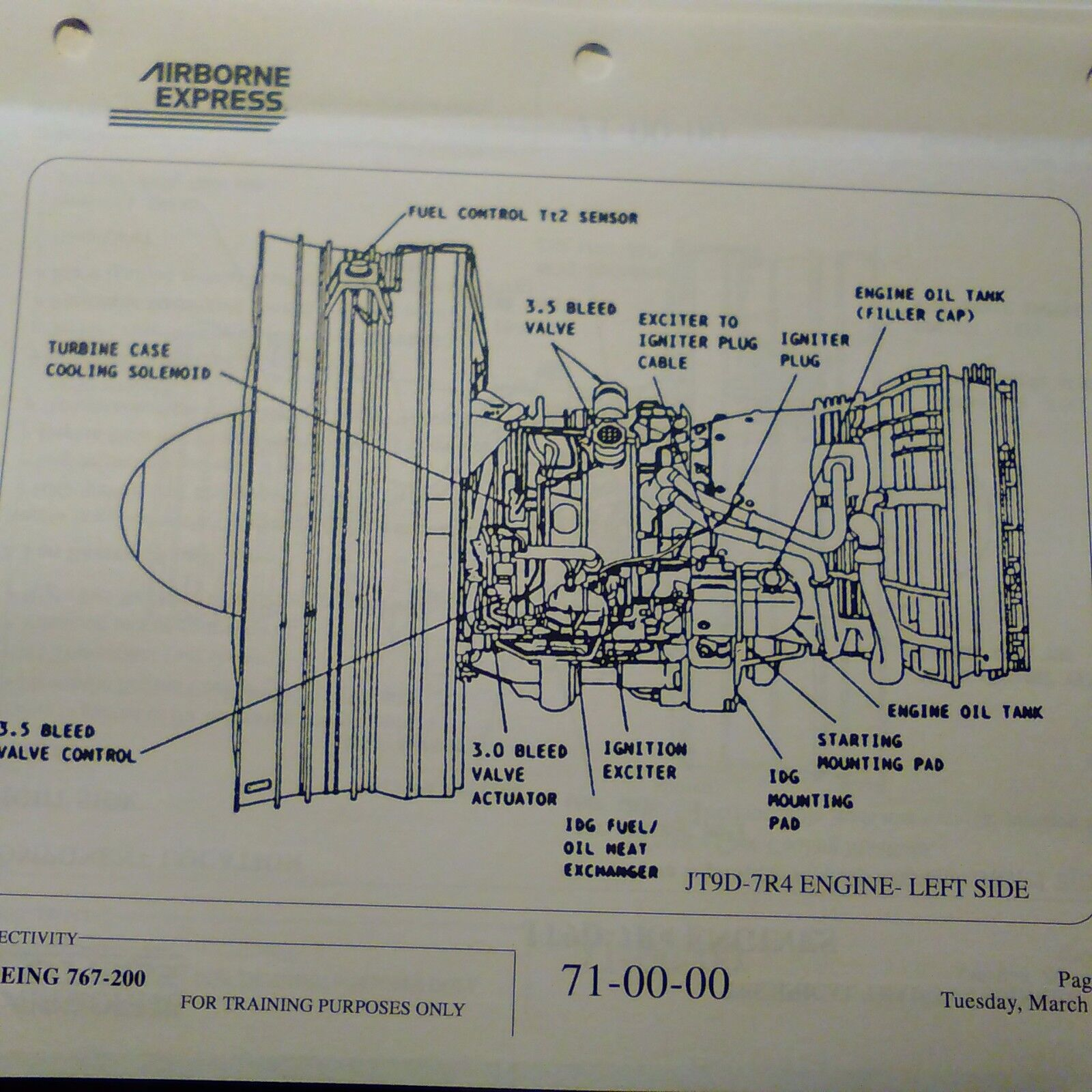 pratt whitney jt9d 7r4 technical training manual 190893530553 rh acrosups top J58 Engine PW4000 Engine