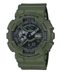 Casio-G-Shock-GA110LP-3A-Anadigi-Punching-Pattern-Green-COD-PayPal-crazy1212