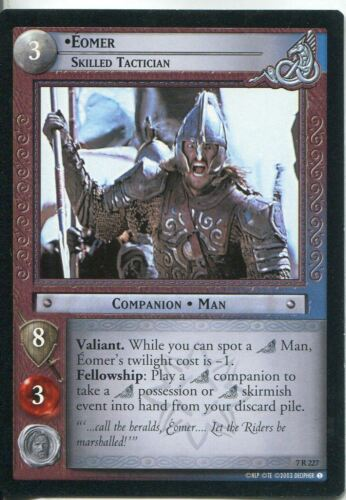 Skilled Tactician Lord Of The Rings CCG Card RotK 7.R227 Eomer