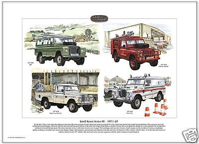 "Automobilia Land _ Rover "" Legends "" Serie Iii 1971-85 Kunstdruck"