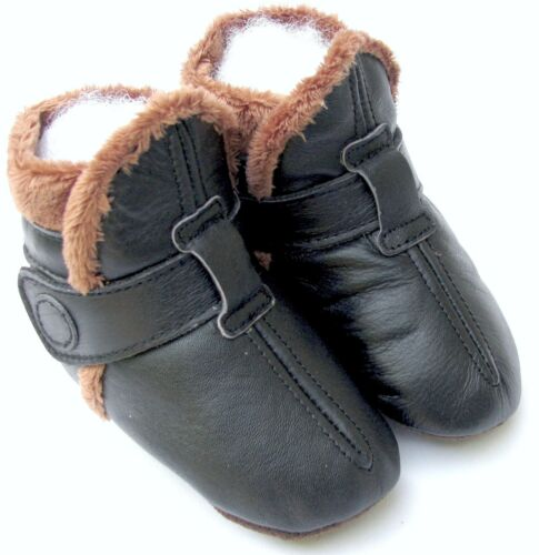 carozoo booties black 3-4y soft sole leather toddler shoes