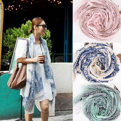 New Brand Fashion Soft Women Long Print Cotton Scarf Wrap Ladies Long Shawl do