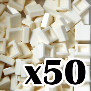 Yellow tile x 50 TILES smooth flat tiled 1x1 NEW LEGO 1 x 1