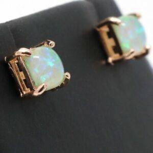 Antique-Green-Opal-Earrings-Women-Nickel-Free-Jewelry-Gift-14K-Rose-Gold-Plated