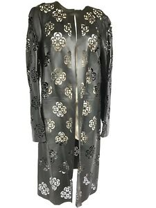 Alexander-McQueen-Floral-Laser-Cut-Leather-Coat-NEW-With-TAG