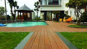 50 M Bambus Komplettset Alu Unterkonstruktion Terrassendielen