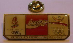 COCA-COLA-OLYMPICS-BARCELONA-ALBERTVILLE-92-stamped-COCA-COJO-1988-vintage-pin