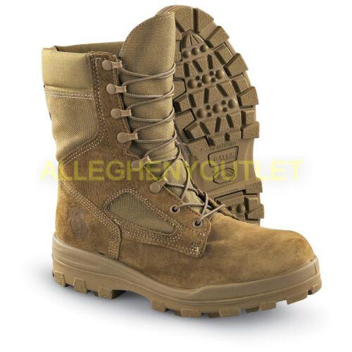 USMC Mens GoreTex Temperate Weather Boots Vibram Durashock Coyote 4W-6.5XW NIB