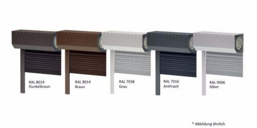 Vorbaurollladen Rolladen Rollo Standard Grau RAL 7038 Alu 110 cm Breite
