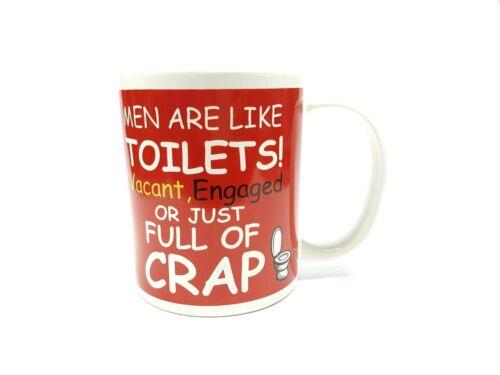 MEN ARE LIKE TOILETS MUG TEA RUDE FUNNY COFFEE CUP SECRET SANTA STOCKING FILLER