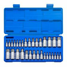 Neiko 32 Pc Hex Allen Master Socket Bit Set S2 Steel | SAE & Metric S2 Steel