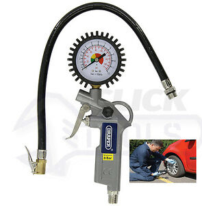Draper-10604-Airline-Car-Tyre-Inflator-with-Air-Pressure-Gauge-For-Compressor