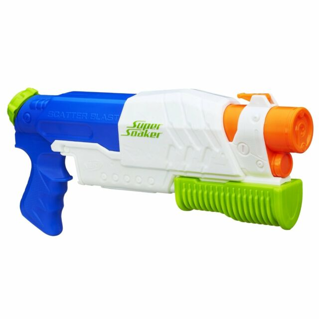 NEW Super Soaker Scatterblast Blaster Nerf Water Gun Toy Fun Summer Outdoor Pool