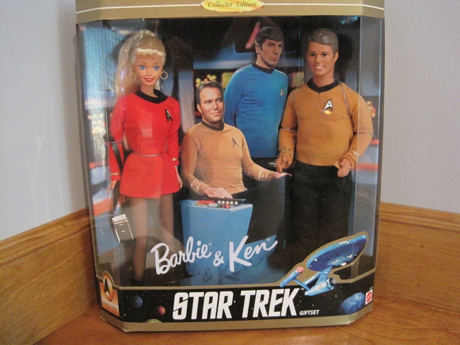 1996 Barbie y Ken Estrella Trek 30TH Aniversario Edición Coleccionista Conjunto de Regalo