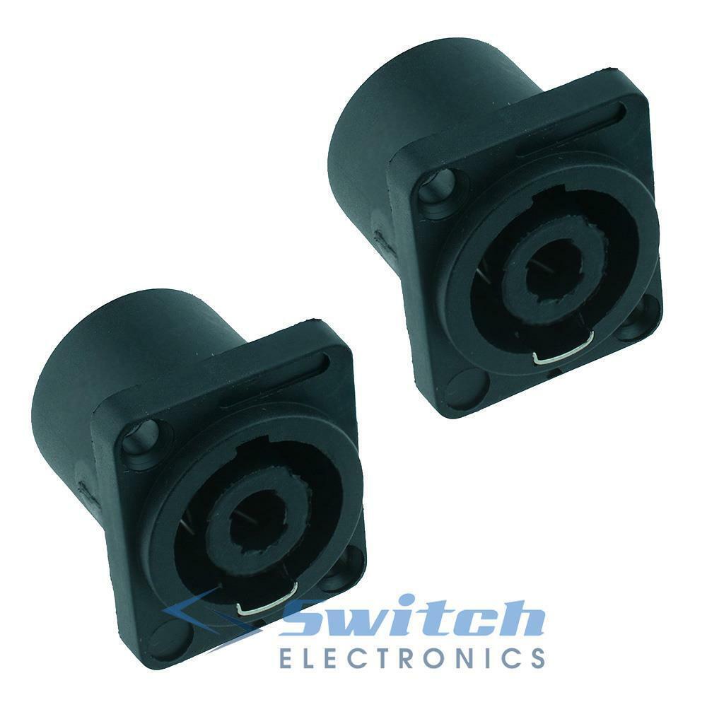 2 x Speakon 4 Pole Loudspeaker Socket Female Connector