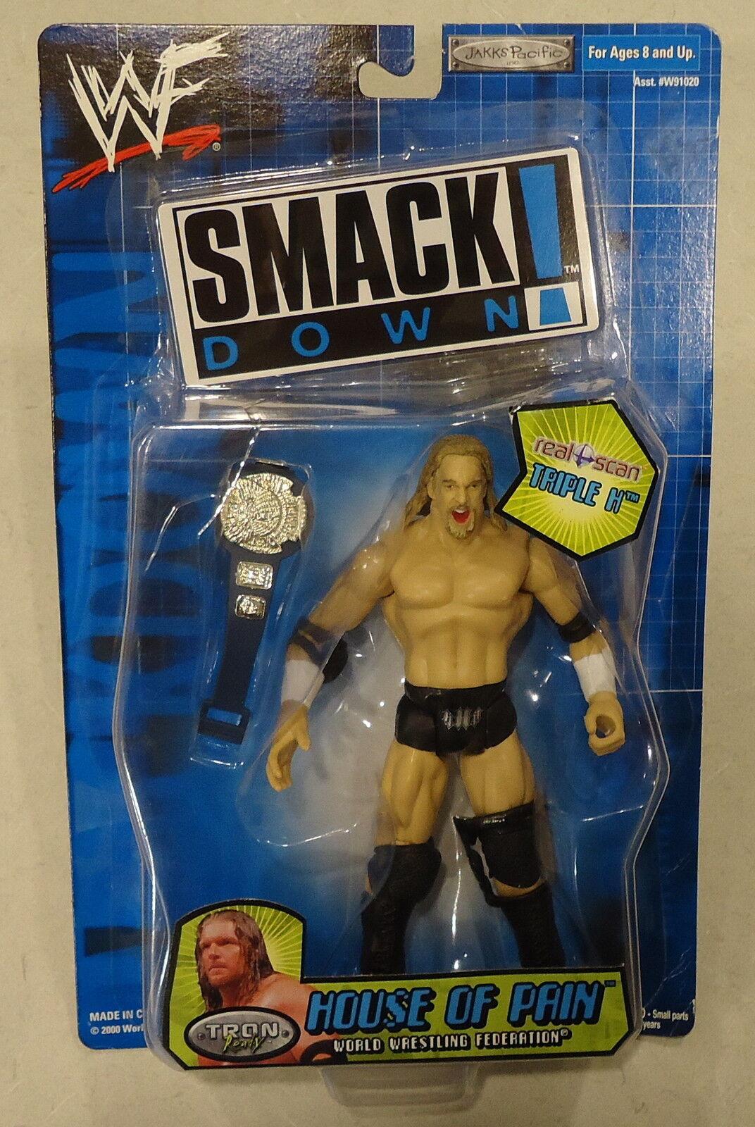 Raro WWE WWF Smackdown House of Pain Triple H Figura De Acción Con Cinturón-Nuevo-difícil de encontrar