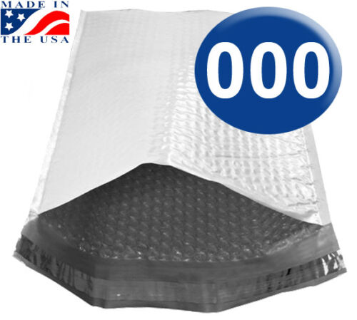500 QTY Ships today! Size 000 4.25x7 POLY Bubble Mailers with Self Seal