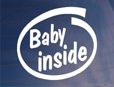 BABY INSIDE Car/Van/Window/Bumper Sticker - Ideal For New Mothers/Parents