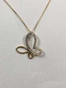 Goldkette damen  Halskette mit Anhänger Gold 585 Schmetterling Neu Goldkette Damen ...