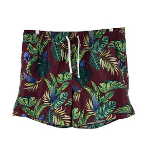 H-amp-M-Mens-Board-Shorts-Size-Large-W36-Elastic-Waist-Multicoloured-Drawstring