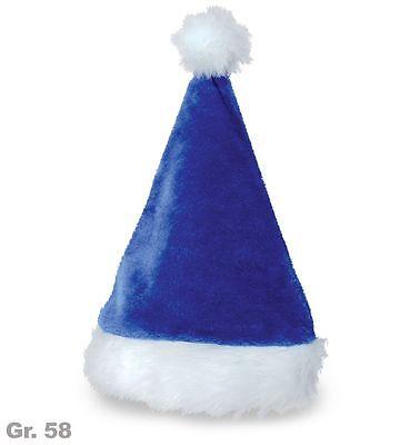 Weihnachtsmütze Zipfelmütze BLAU/WEISS Väterchen Frost Gr. 58 edel 123893313