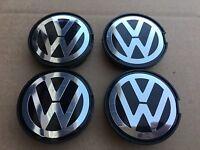 Set Of 4 55mm Vw Volkswagen Chrome Center Wheel Hub Caps Emblem 6n0601171