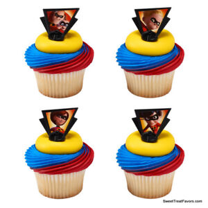 Image Is Loading INCREDIBLES 2 Movie Party CUPCAKE Birthday Favors Topper