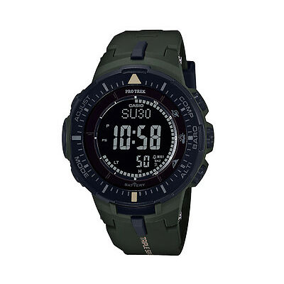 Casio Men's 56mm PRO TREK PRG300-3D Triple Sensor Ver. 3 Sports Watch - Khaki Gr