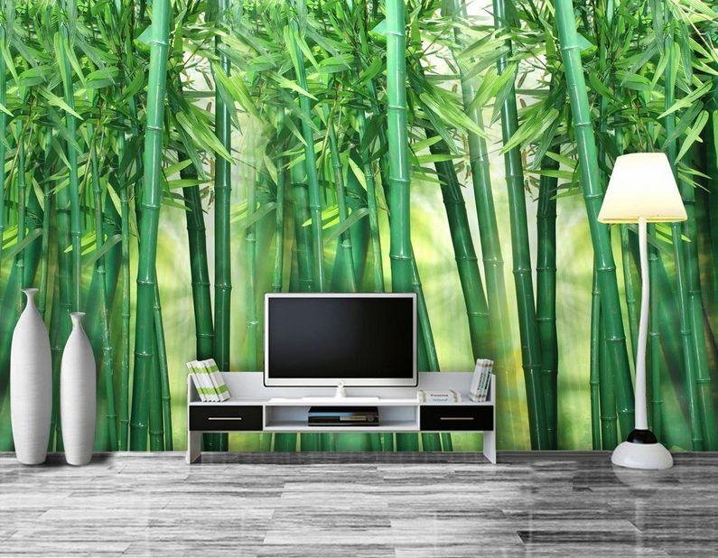 3D Mega Fresh And Pure Bamboos 836Wall Paper Wall Print Decal Wall AJ Wall Paper