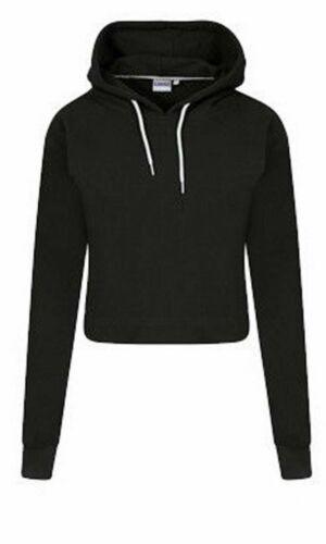 Girls Long Sleeve Cropped Sweater Hoodies Pullover Women Sweatshirt Jumper Tops