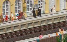 Moderner Bahnsteig für C-Gleis, Faller 120100, Miniaturwelten Bausatz H0 (1:87)