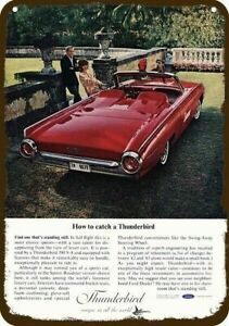 1965 FORD THUNDERBIRD LANDAU Convertible Car Vintage Look REPLICA METAL SIGN