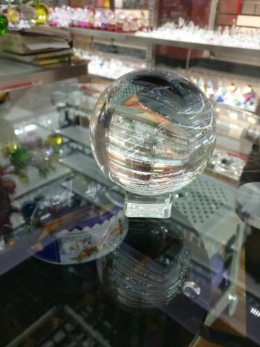 Crystal Glass Ball Sphere Quality Sphere for Photography Prop Decor