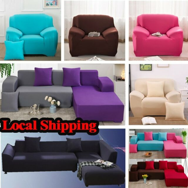 Stretch Suede Sectional Sofa Cover