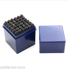 36pcs 6mm Steel Punch Alphabet Letter Number Stamp Tool Metal Leather Craft