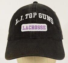 L.I. Top Guns Lacrosse Long Island Black Baseball Hat Cap Adjustable