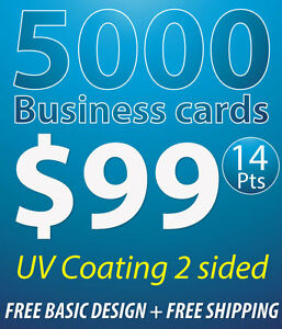 image is loading 5000 business cards printing 14pts uv coating 2 - 5000 Business Cards