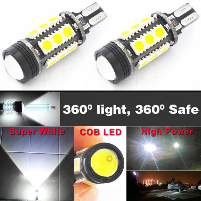 2X T15 912 921 W16W Super White 15-SMD 5050 LED Backup Lights 7W Reverse Bulbs
