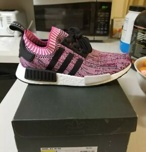 Details about New 8.5 Women's Adidas NMD R1 Primeknit Running Training Casual Shoes Pink Black