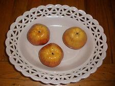 Rare Este Tiffany & Co trompe l'oeil Italy Italian pottery large basket 3 apples