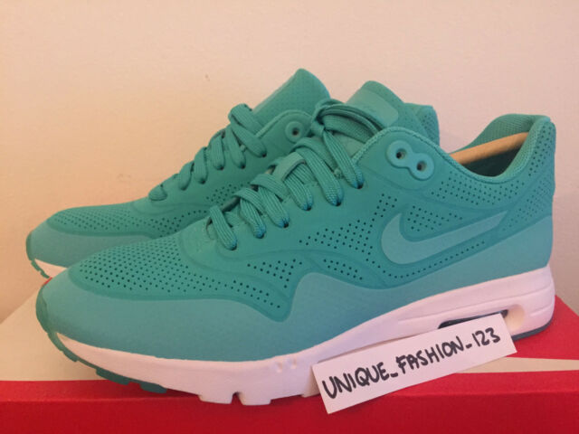 low cost amazing price good looking WMNS NIKE AIR MAX 1 ULTRA MOIRE UK 3.5 US 6 36.5 LIGHT RETRO MINT GREEN  WHITE 3M