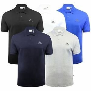 Argent-ante-Homme-Polo-Shirt-a-Manches-Courtes-en-Coton-Col-Haut-Decontracte