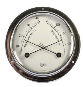 Schiffsthermom<wbr/>eter / Hygrometer Analog Barigo Tempo S Chrom