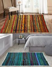 Set of 2 Pcs Wholesale Rug Cotton Decor Floor Yoga Mat Door Carpet Indian Mat