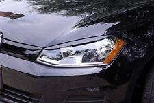 VW GOLF 7 GTi MK7 Eyelids eyebrows FRONT headlight light brows DEEP BLACK LC9X
