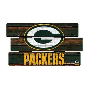 Green-Bay-Packers-Defense-Holzschild-XL-63-cm-NFL-Football-Fence-Sign