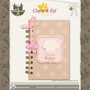CLAYRE & EEF | 6PA0080 | Ricettario - Recipe book | Shabby chic